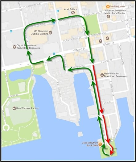 Women's March Route