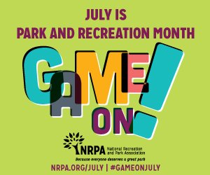 Game On Park and Recreation Month promotional image