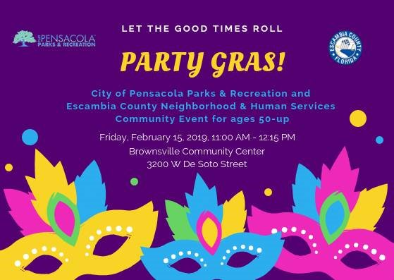 Informational flyer on Party Gras
