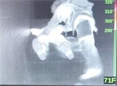 Infrared image of firefighters