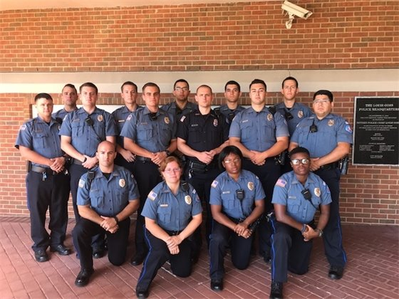 Photo of the new police cadets