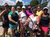 group tennis shot