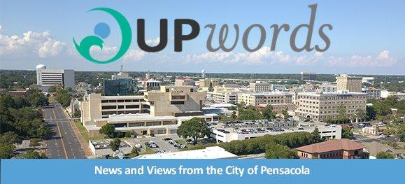 Aerial photo of downtown Pensacola