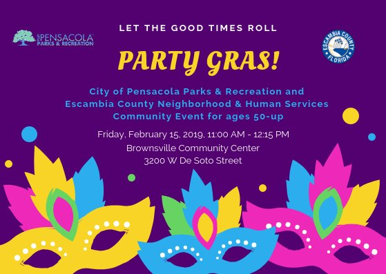 Party Gras event February 15, 2019