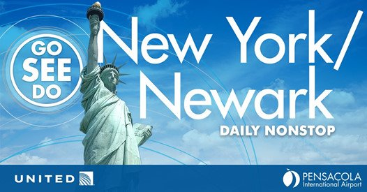 New York/Newark daily nonstop flights now available at Pensacola International Airport