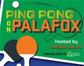 graphic showing ping pong paddles for he sept 14 event