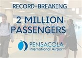 Graphic that shows 2 million passengers traveled Pensacola International Airport