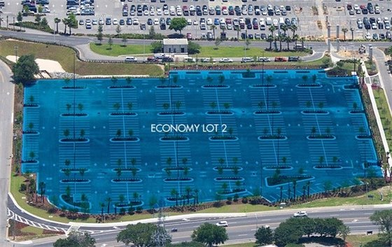 Economy lot 2 at Pensacola International Airport