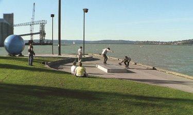 An example of a skate spot in Tacoma, Washington at Thea's Park Skate Spot.