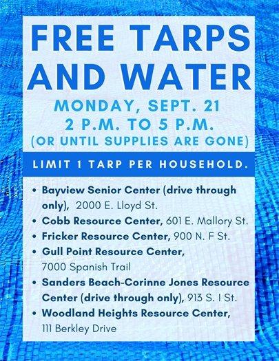 Free tarps and water