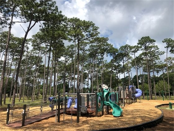 New playground at Parker Circle Park on a sunny day