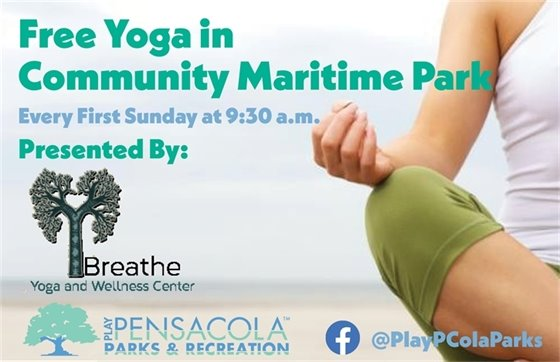 Free Yoga in CMP every first Sunday at 9:30 a.m.