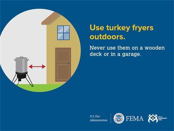 Use turkey fryers outdoors