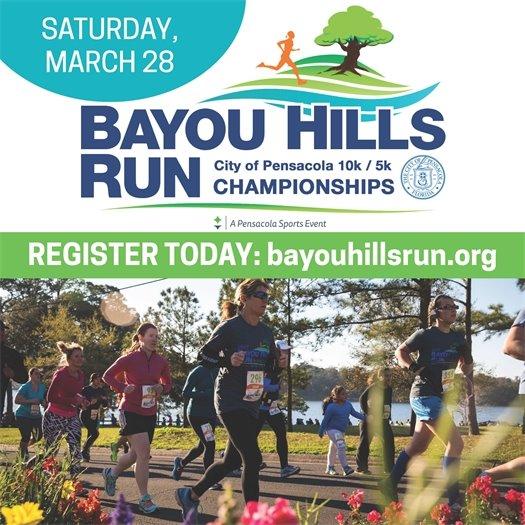 Saturday, March 28 Bayou Hills Run - bayouhillsrun.org