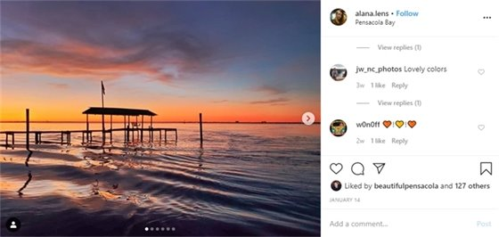 Sunset over Pensacola Bay
