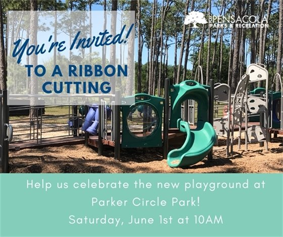Invitation for Parker Circle Playground Ribbon Cutting
