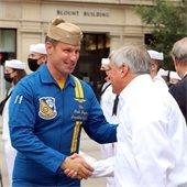 Mayor Robinson at Navy pelican unveiling