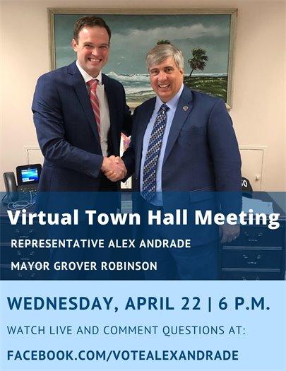 Virtual Town Hall Meeting flyer