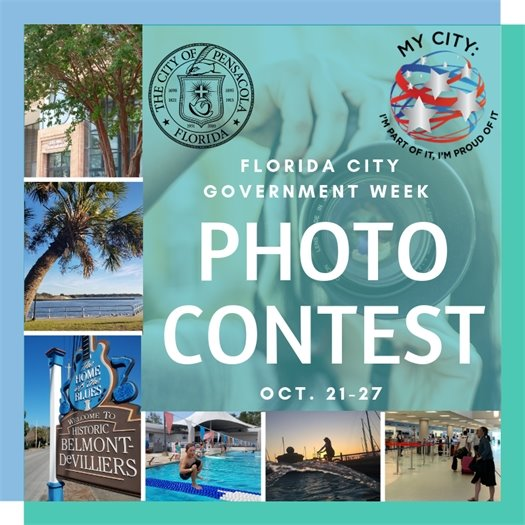 photo contest graphic showing different locations in pensacola