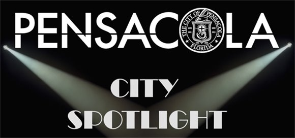 "Pensacola Logo and the text ""City Spotlight"""