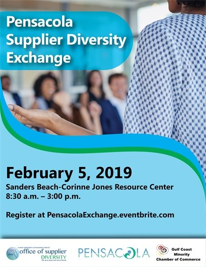 Informational flyer about the Pensacola Supplier Diversity Exchane