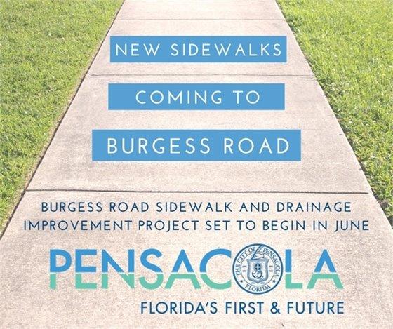 Burgess Road Sidewalk Project beginning in June