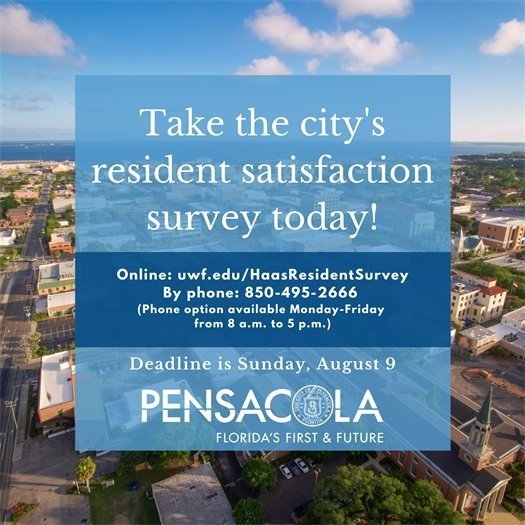 visit uwf.edu/haasresidentsurvey to complete the city's resident satisfaction survey