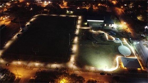 Legion Field at night