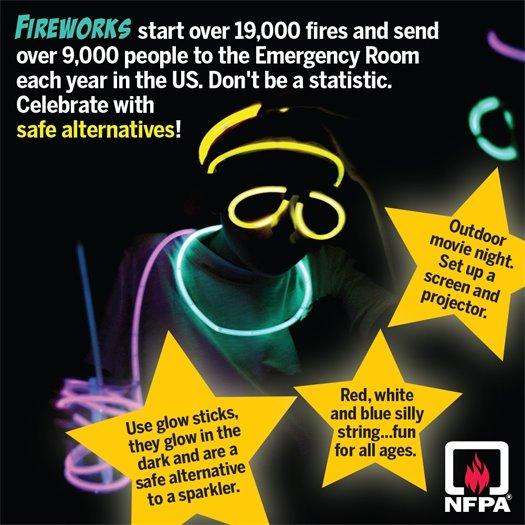 Firework safety info