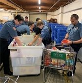 PPD sorts canned goods