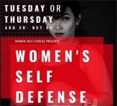 women's self defense class flier