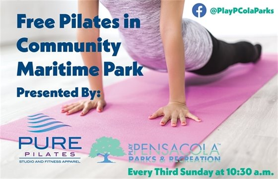 Free Pilates in CMP every third Sunday at 10:30 a.m.