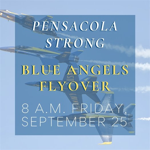 Blue Angels flyover 8 a.m. Friday, Sept. 25