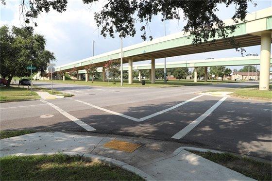 Sidewalk and crosswalk