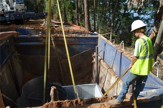 Installation of an underground stormwater treatment unit