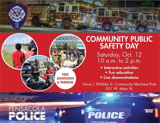 informational graphic about community public safety day
