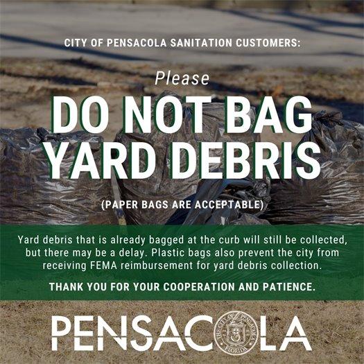 Do not bag yard debris