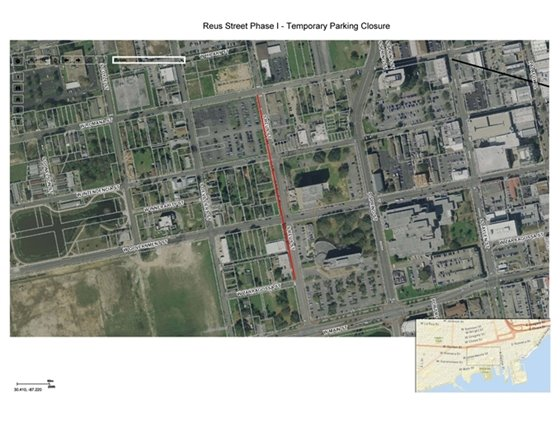 Temporary parking closures for the west side of Reus Street from Romana Street to Zarragossa Street