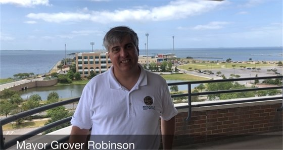 Mayor Robinson at City Hall
