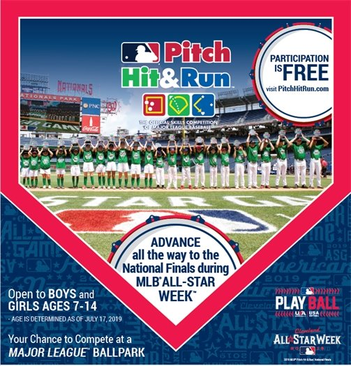 Pitch Hit and Run flyer visit pitchhitrun.com