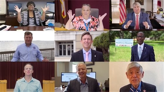 Members of City Council and County Commission in the census video