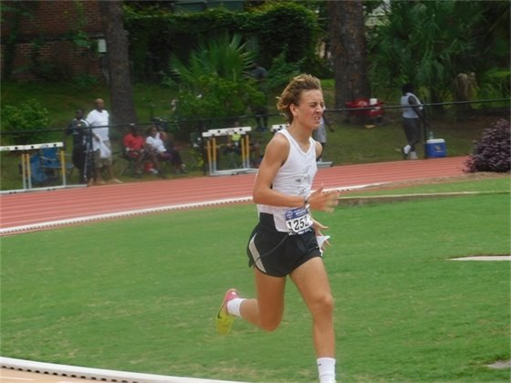 James Simkins in the 1500M race at AAU Regionals in Tallahassee