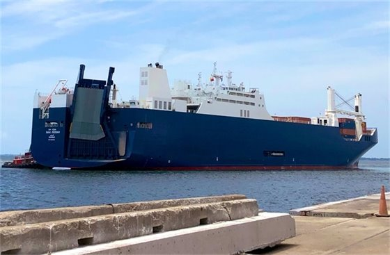 Bahri Jeddah ship at the Port of Pensacola
