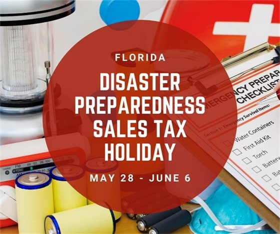 Disaster Preparedness Sales Tax Holiday May 28- June 6
