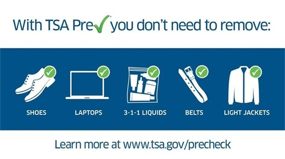 TSA precheck - learn more at tsa.gov/precheck