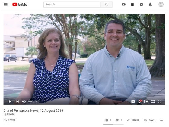 Screenshot of youtube with a man and woman smiling at the camera