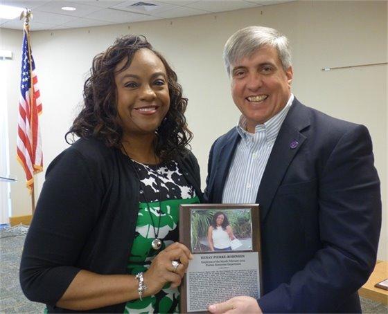 Renay Pierre-Robinson and Mayor Grover Robinson