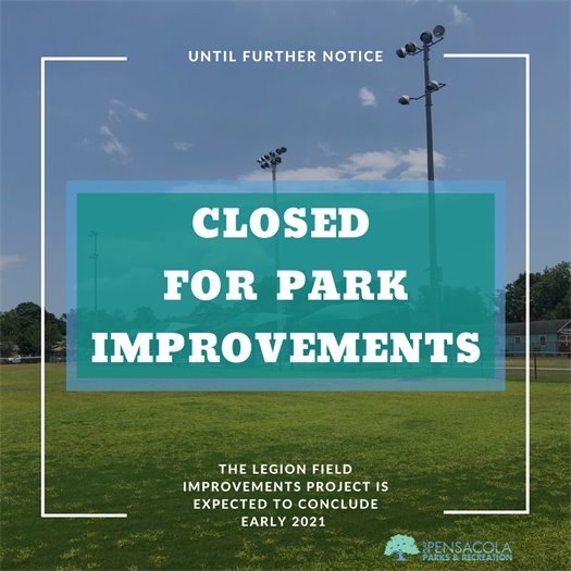 Legion Field to Close for Park Improvements Beginning Aug. 17