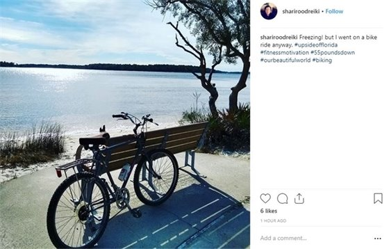 Photo of a bike by the water