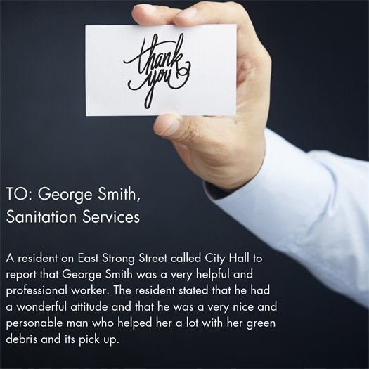 a letter of kudos to George Smith